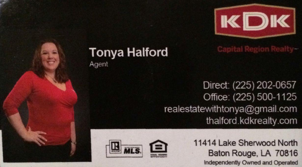 Tonya Halford Realtor KDK Realty